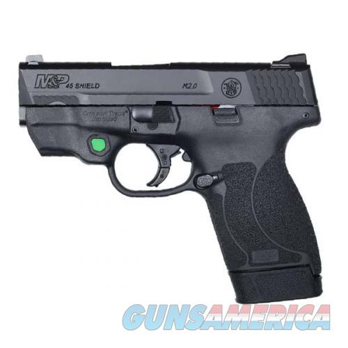 """Smith & Wesson M&P45 Shield M2.0 CT Green Laser NTS 3.3"""" 12090   Guns > Pistols > Smith & Wesson Pistols - Autos > Polymer Frame"""