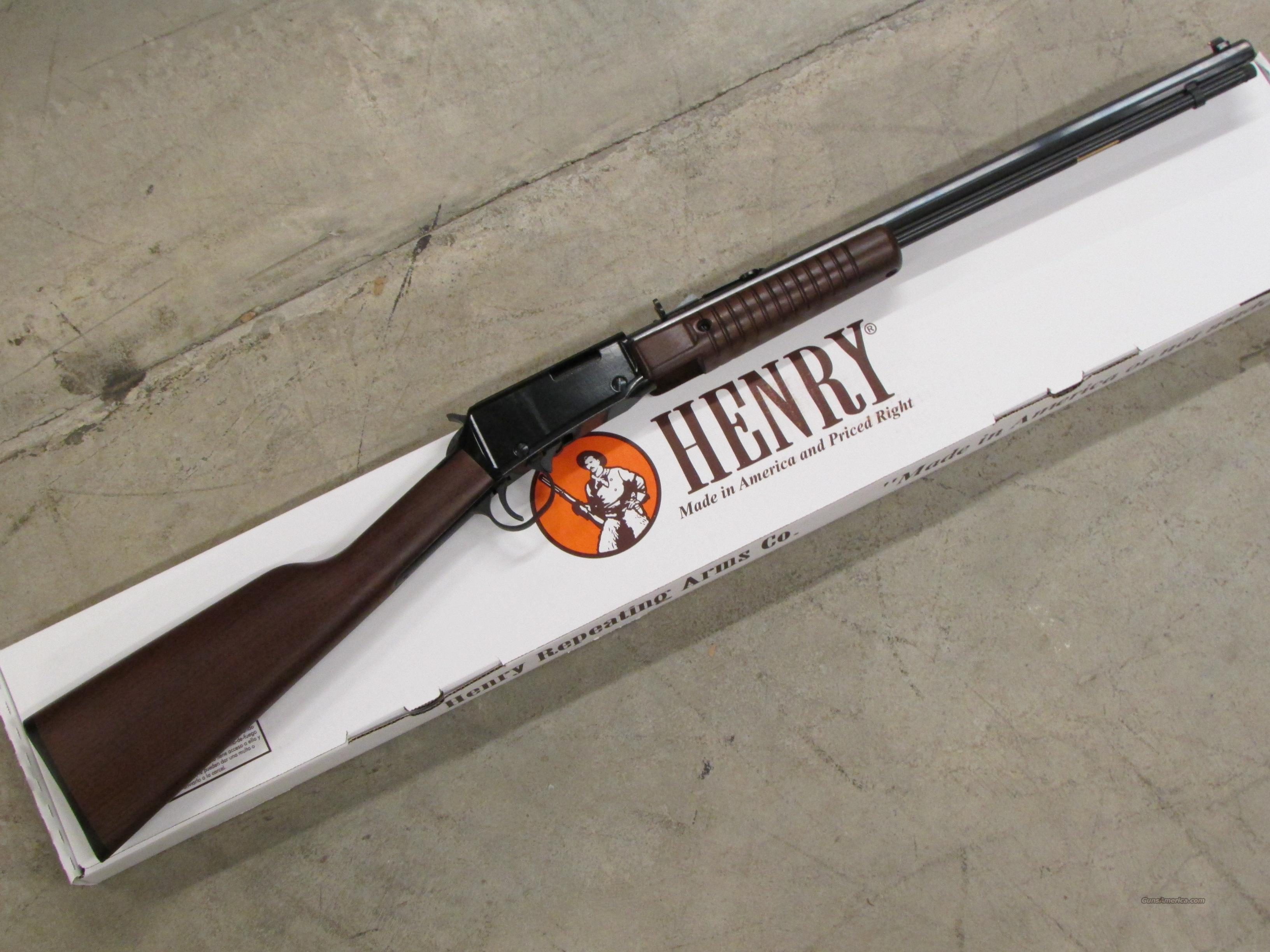 Henry Pump-Action Octagon Barrel .22 WMR (Magnum) H003TM  Guns > Rifles > Henry Rifles - Replica