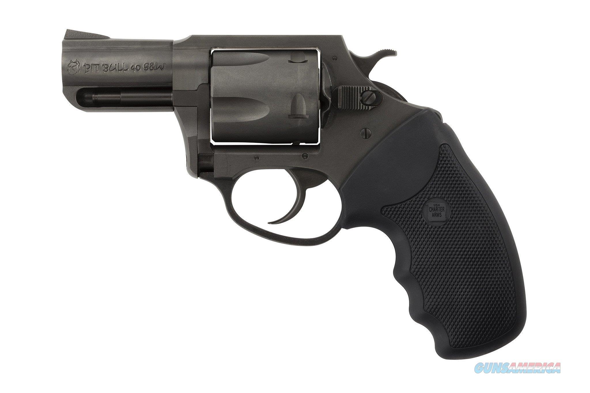 "Charter Arms Pitbull Revolver .40 S&W 2.3"" Blacknitride 5-Shot 64020   Guns > Pistols > Charter Arms Revolvers"