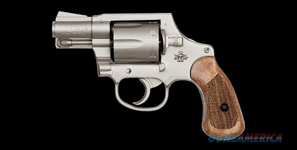 "Armscor Rock Island M206 Spurless Matte Nickle 2"" .38 Special 51289  Guns > Pistols > Armscor Pistols > Rock Island"