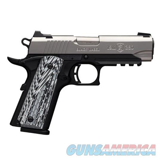 BROWNING 1911-380 BLACK LABEL PRO .380 ACP / AUTO 051929492  Guns > Pistols > Browning Pistols > Other Autos