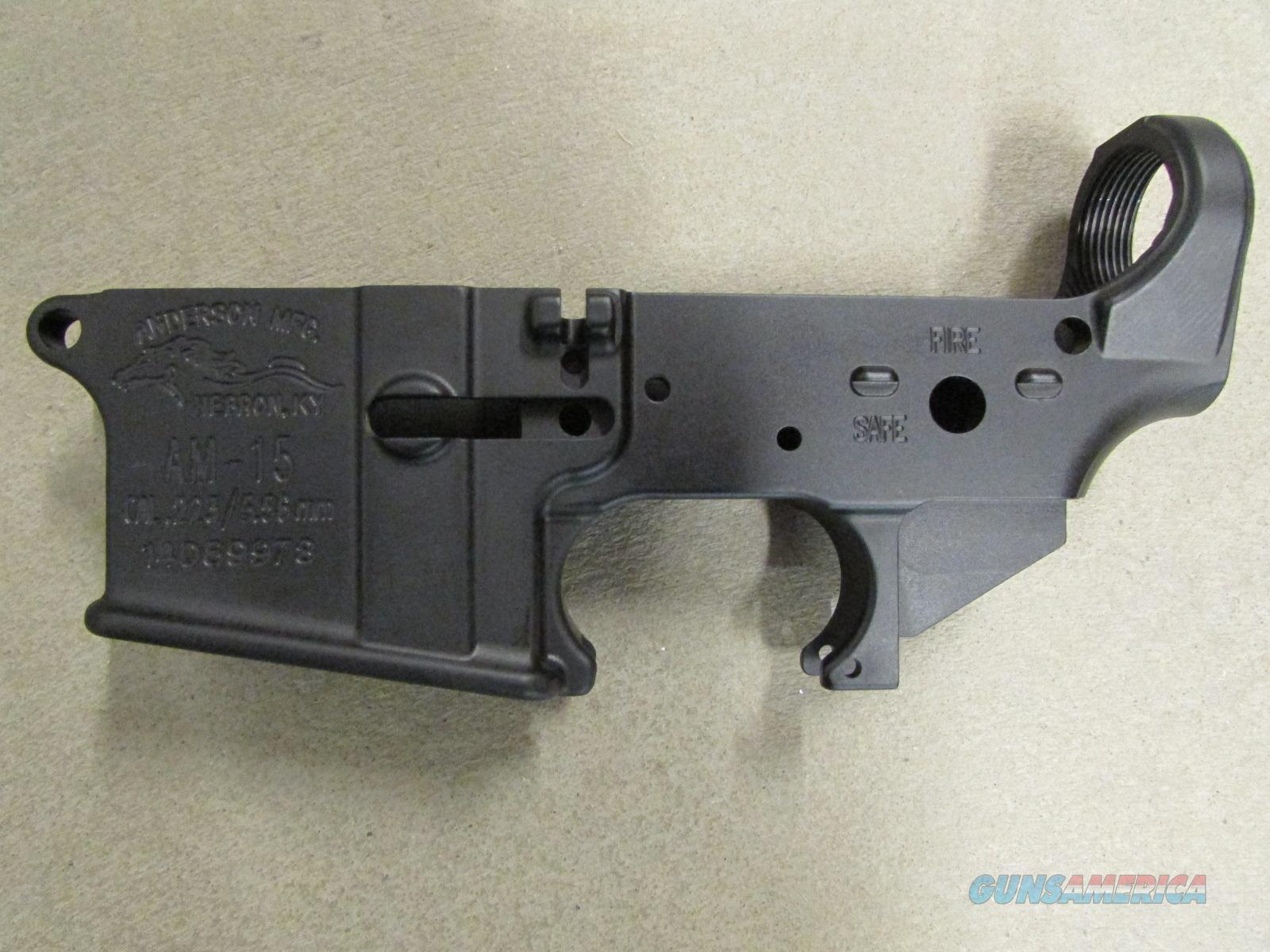 Anderson Mfg AR-15 Stripped Lower Receiver Mil-Spec AR15-A3-LWFOR  Guns > Rifles > AR-15 Rifles - Small Manufacturers > Lower Only