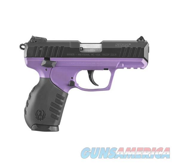 "Ruger SR22 Purple/Black .22 LR 3.50"" 10 RD 3606  Guns > Pistols > Ruger Semi-Auto Pistols > SR Family > SR22"