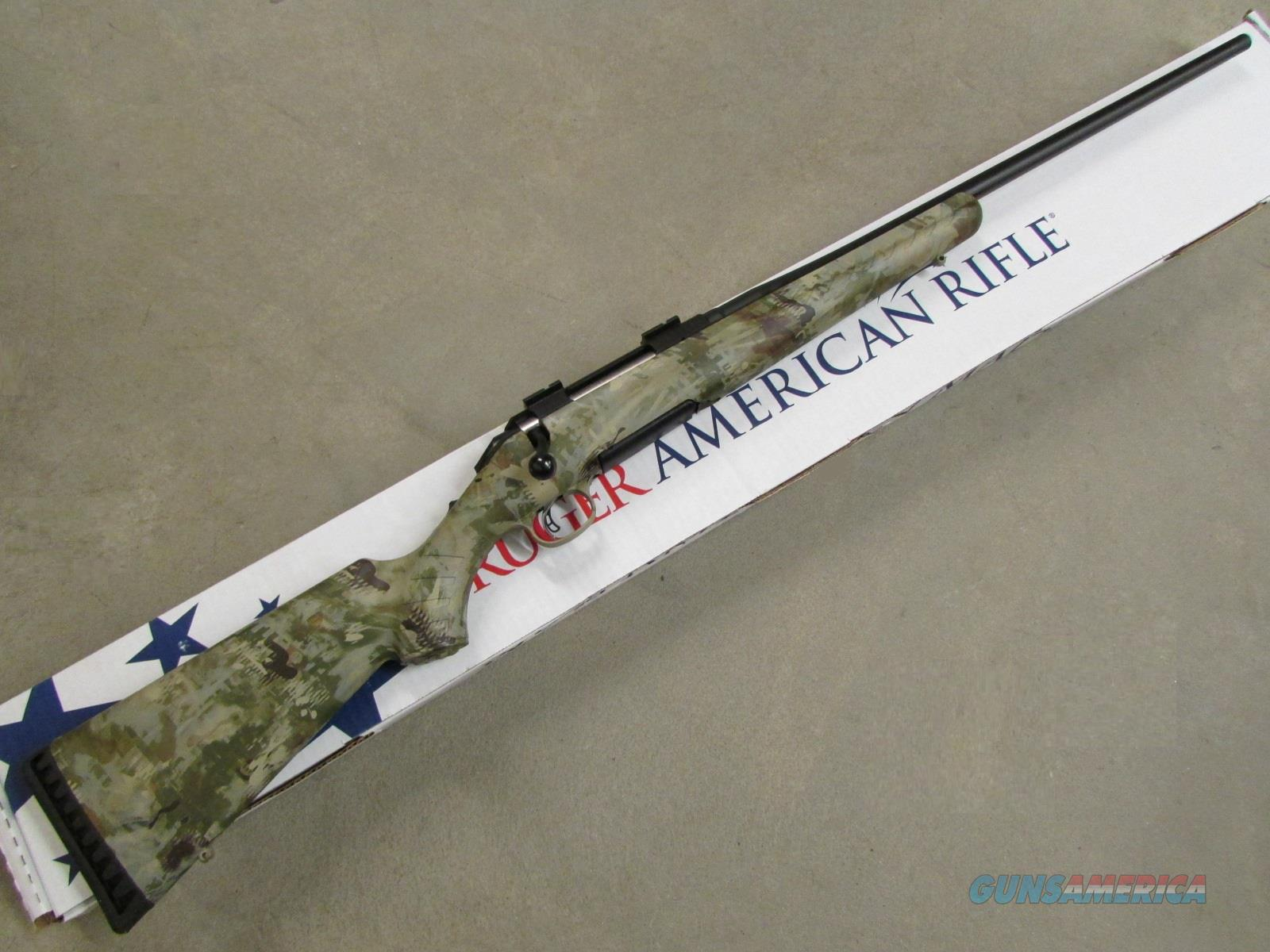 "Ruger American 22"" Black / Wolf Camo .308 Win 6949  Guns > Rifles > Ruger Rifles > American"