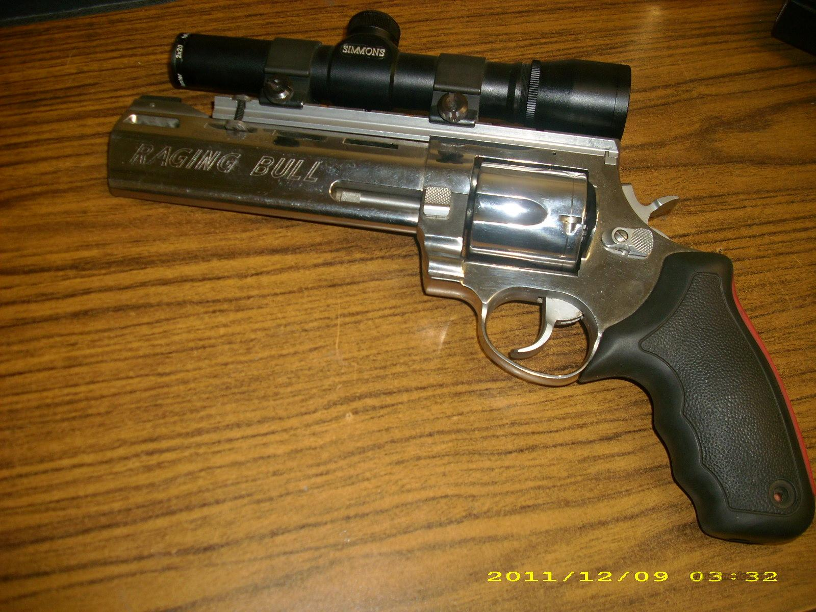 Taurus Raging Bull 454 Casull w/ Simmons Scope  Guns > Pistols > Ruger Double Action Revolver > Redhawk Type