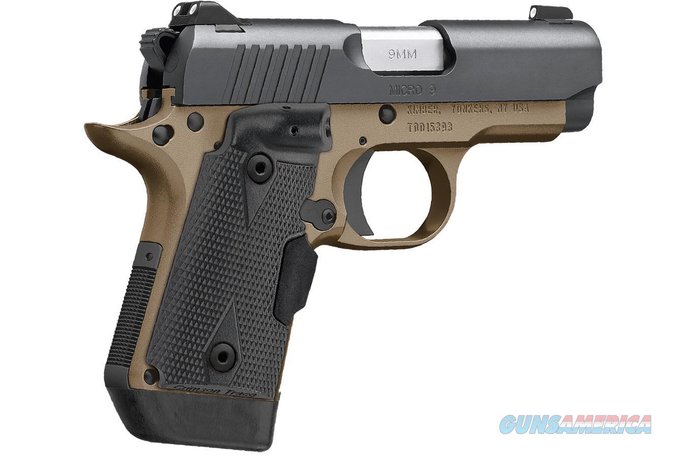 Kimber Micro 9 Desert Night (LG) 9mm Crimson Trace 3300175  Guns > Pistols > Kimber of America Pistols > Micro 9