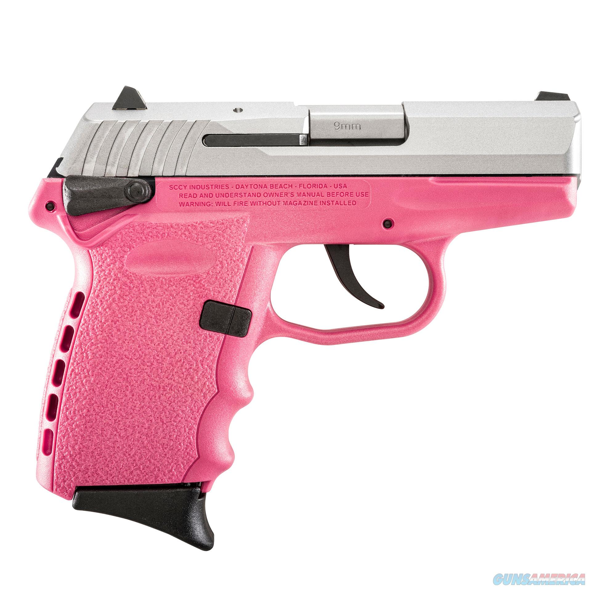 SCCY FIREARMS CPX-1 TTPK STAINLESS / PINK 9mm CPX-1TTPK  Guns > Pistols > SCCY Pistols > CPX1