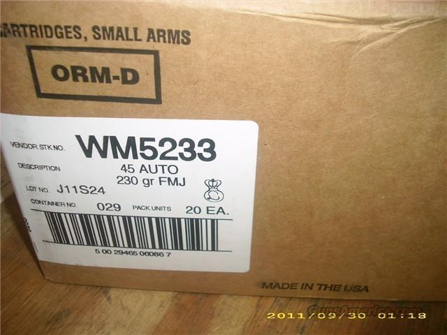 Federal Champion 45 Auto 230 Gr FMJ 1000 Rounds   Non-Guns > Ammunition