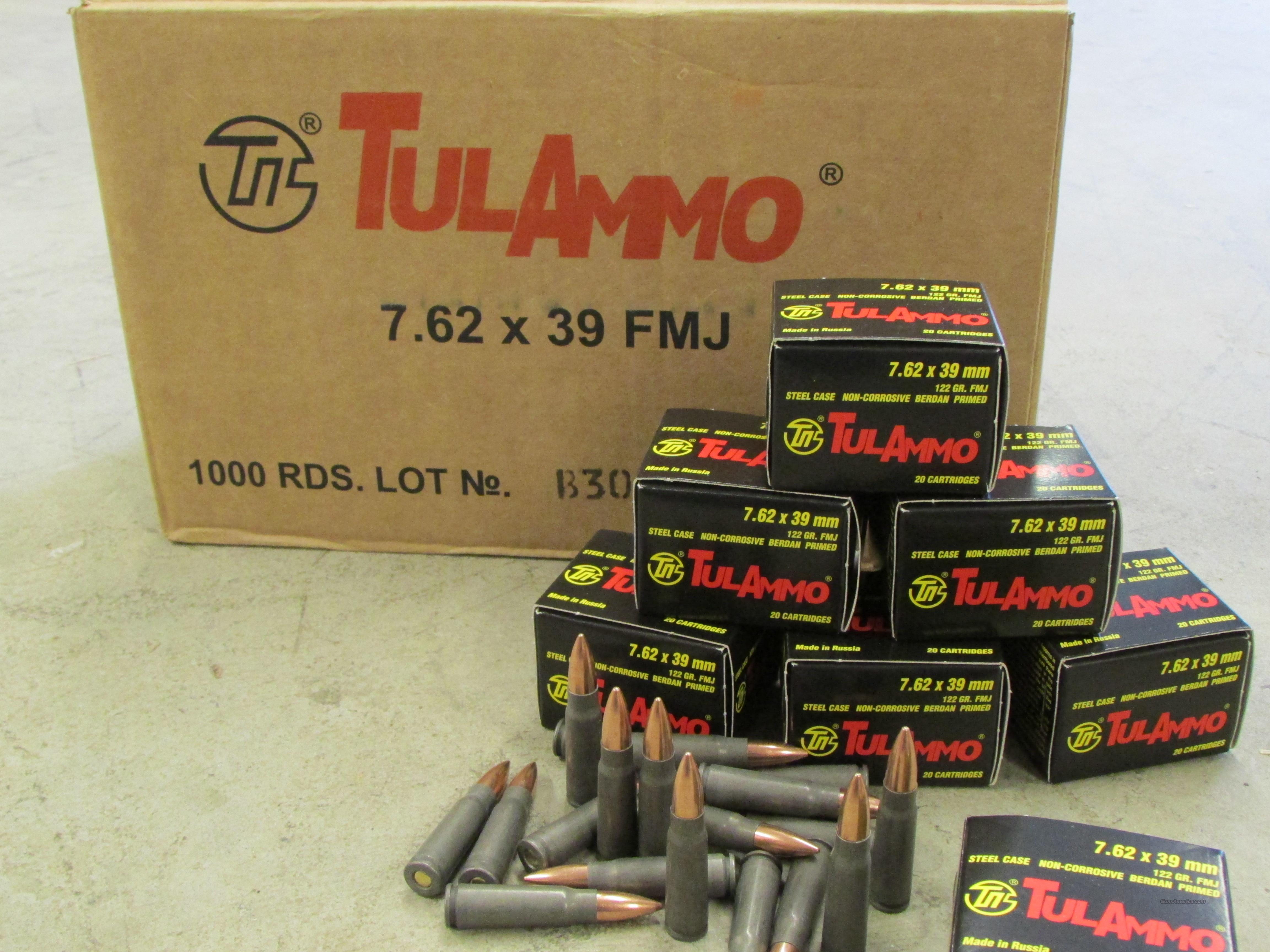 1000 Round Cases of 7.62X39mm TulAmmo  Non-Guns > Ammunition