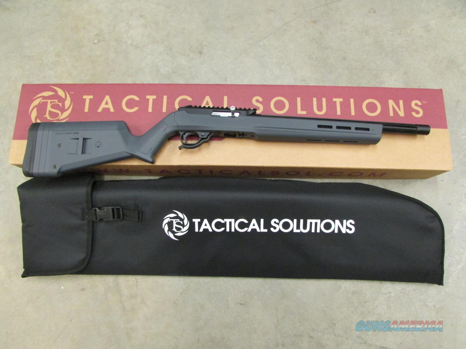 TACTICAL SOLUTIONS X-RING RIFLE MAGPUL HUNTER X-22 BLACK / STEALTH GRAY .22 LR 10/22 TE-MB-B-M-GRY  Guns > Rifles > Ruger Rifles > 10-22