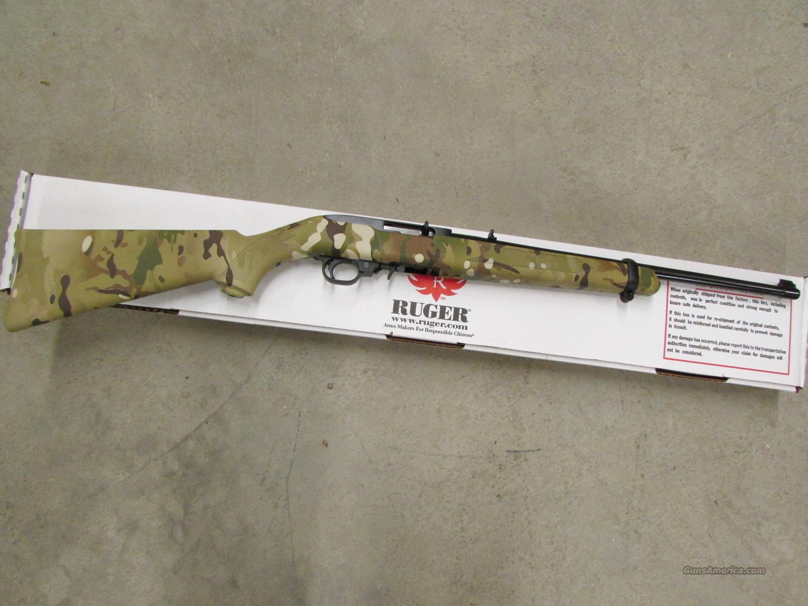 Ruger Un-Cataloged Multi-Cam Camo & Blued 10/22 .22 LR  Guns > Rifles > Ruger Rifles > 10-22
