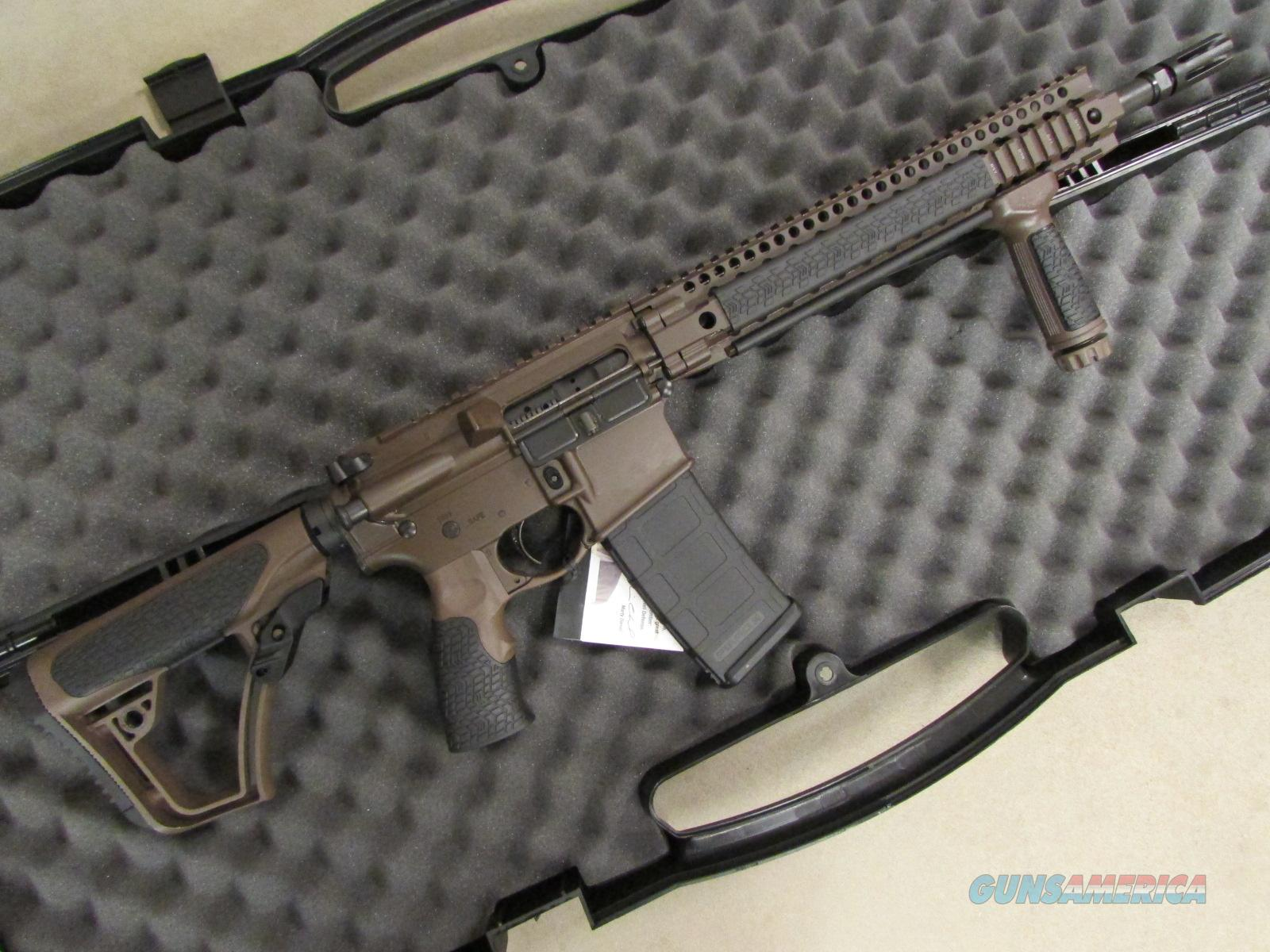 DANIEL DEFENSE DDM4V45S AR-15/M4 CERAKOTE BROWN 5.56 NATO  Guns > Rifles > Daniel Defense > Complete Rifles