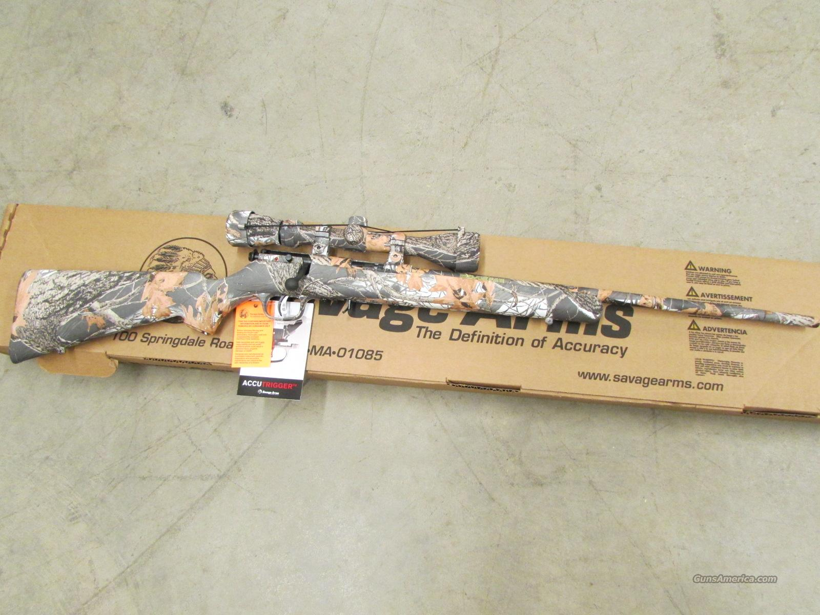 Savage Model 93R17 XP Snow Camo & Scope .17 HMR 96776  Guns > Rifles > Savage Rifles > Accutrigger Models > Sporting