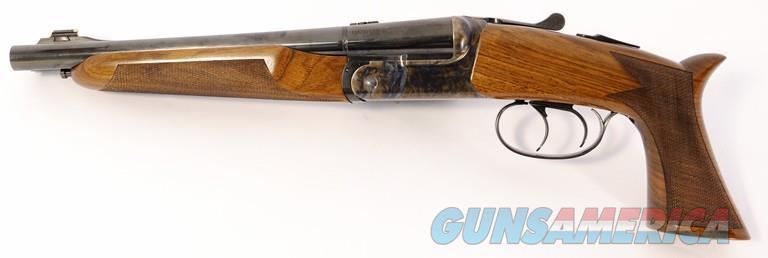 "Taylor's & Co. / Pedersoli Double Barrel Howdah .45 LC/.410 GA Walnut 10.25"" REVS640.410   Guns > Pistols > Taylors & Co. Pistols > Percussion"