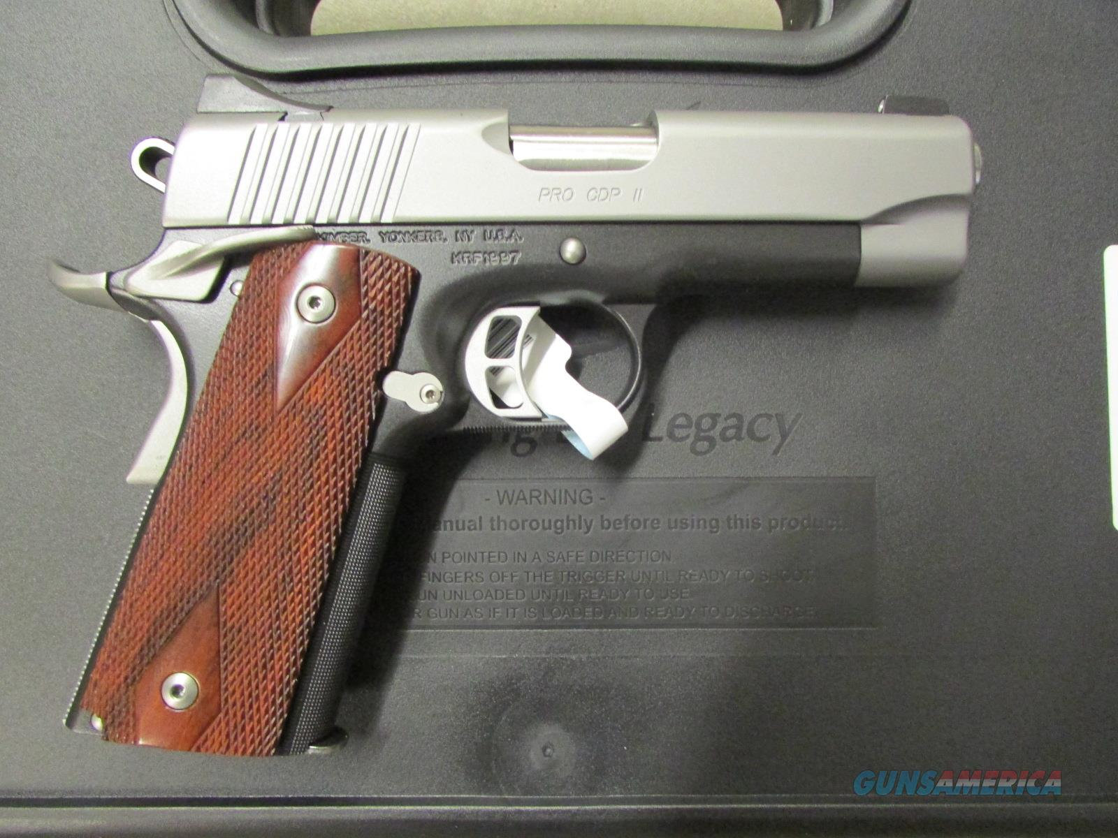"Kimber Pro CDP II 1911 4"" Two-Tone 9mm Luger 3200322 Guns > Pistols >  Kimber of America Pistols > 1911"