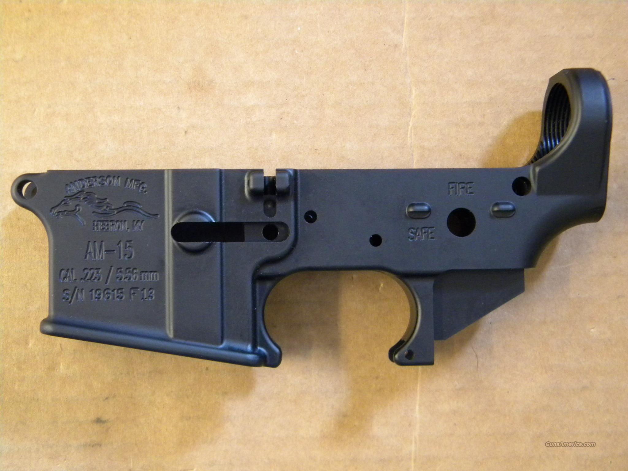 Anderson Manufacturing AR-15 Stripped Lower Reciever  Guns > Rifles > AR-15 Rifles - Small Manufacturers > Lower Only