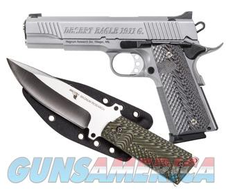 Magnum Research Desert Eagle 1911 Matte Stainless .45 ACP w/Knife DE1911GSS-K  Guns > Pistols > Magnum Research Pistols