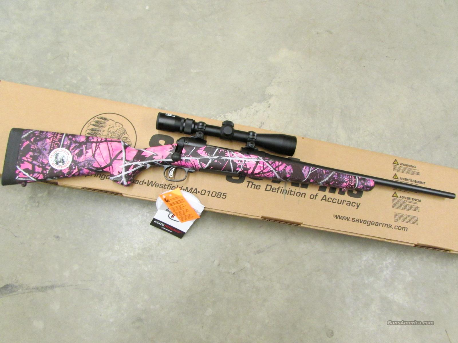 Savage Model 11 Trophy XP Hunter Youth Muddy Girl Pink 7mm-08 Rem.  Guns > Rifles > Savage Rifles > Accutrigger Models > Sporting