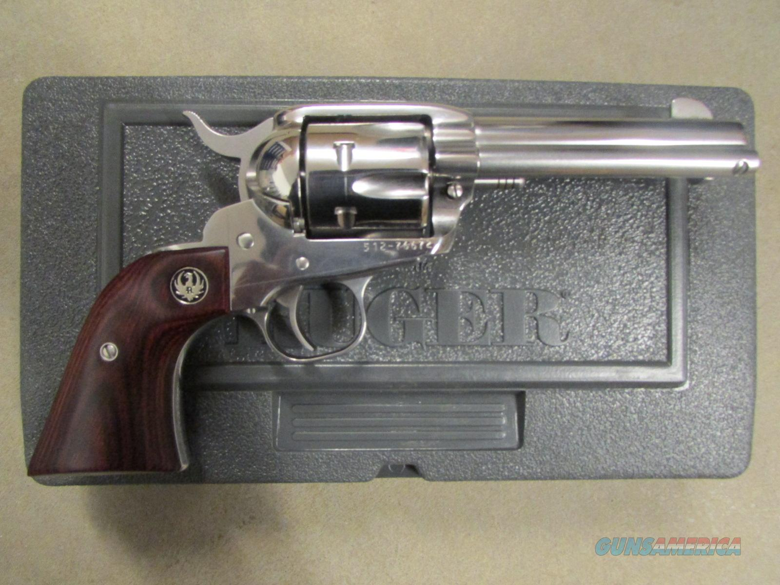 "Ruger Vaquero Stainless Single-Action 4.62"" .357 Mag  Guns > Pistols > Ruger Single Action Revolvers > Blackhawk Type"