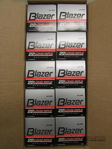 5000 ROUNDS (10 BRICKS) OF CCI BLAZER .22 LR 22LR .22 40 GR.  Non-Guns > Ammunition