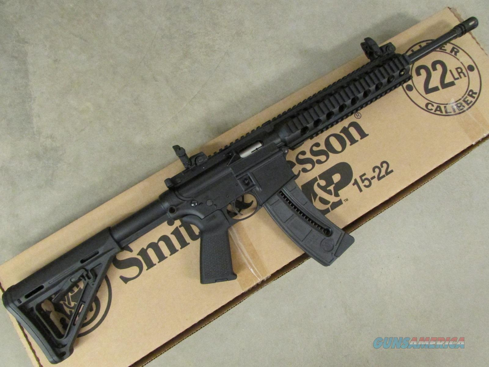 Smith & Wesson M&P15-22 MOE Sights Stock & Grip .22 LR  Guns > Rifles > Smith & Wesson Rifles > M&P
