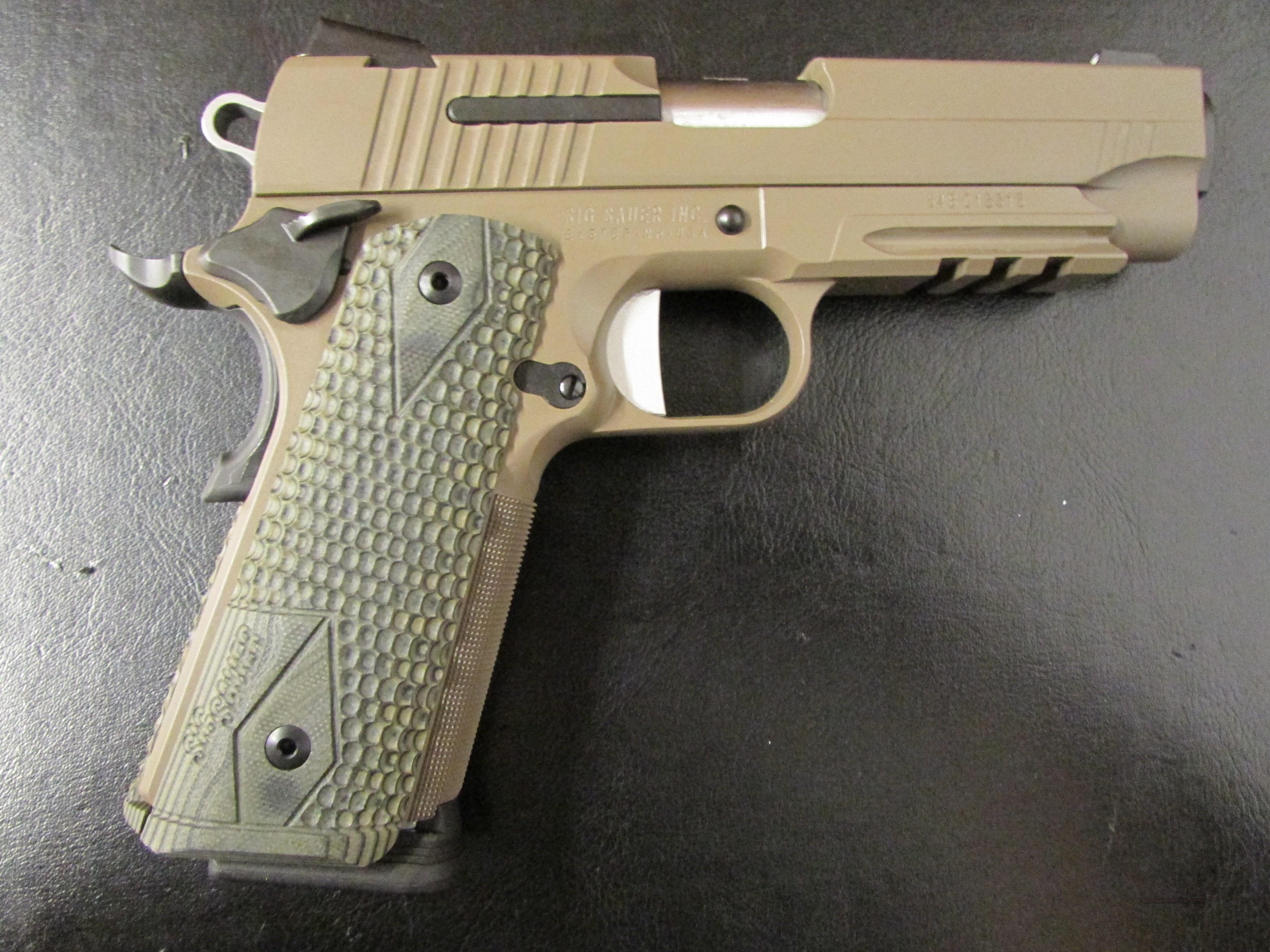 Sig Sauer Carry Scorpion FDE 1911 .45 ACP  Guns > Pistols > Sig - Sauer/Sigarms Pistols > 1911