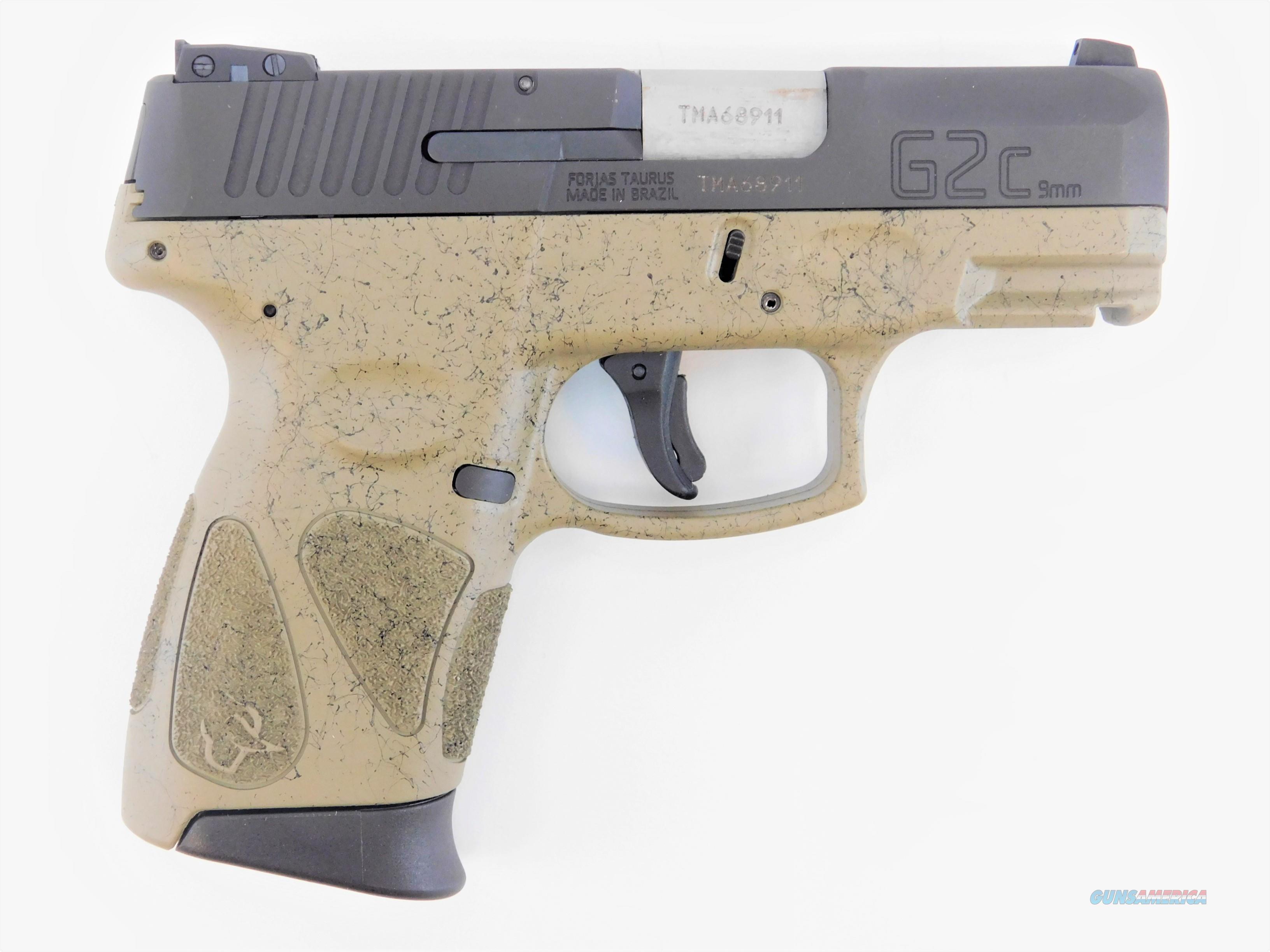 "Taurus G2C 9mm 3.25"" Splatter FDE/Black 1-G2C931-SPFDE  Guns > Pistols > Taurus Pistols > Semi Auto Pistols > Polymer Frame"