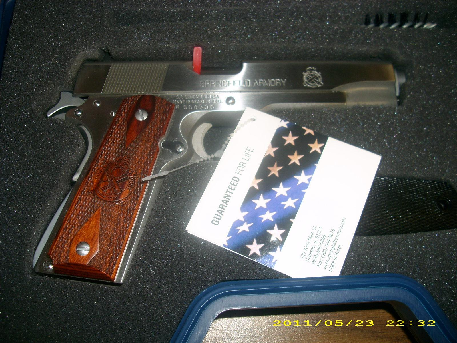 Springfield 1911 45 Milspec Package SS  Guns > Pistols > Springfield Armory Pistols > 1911 Type