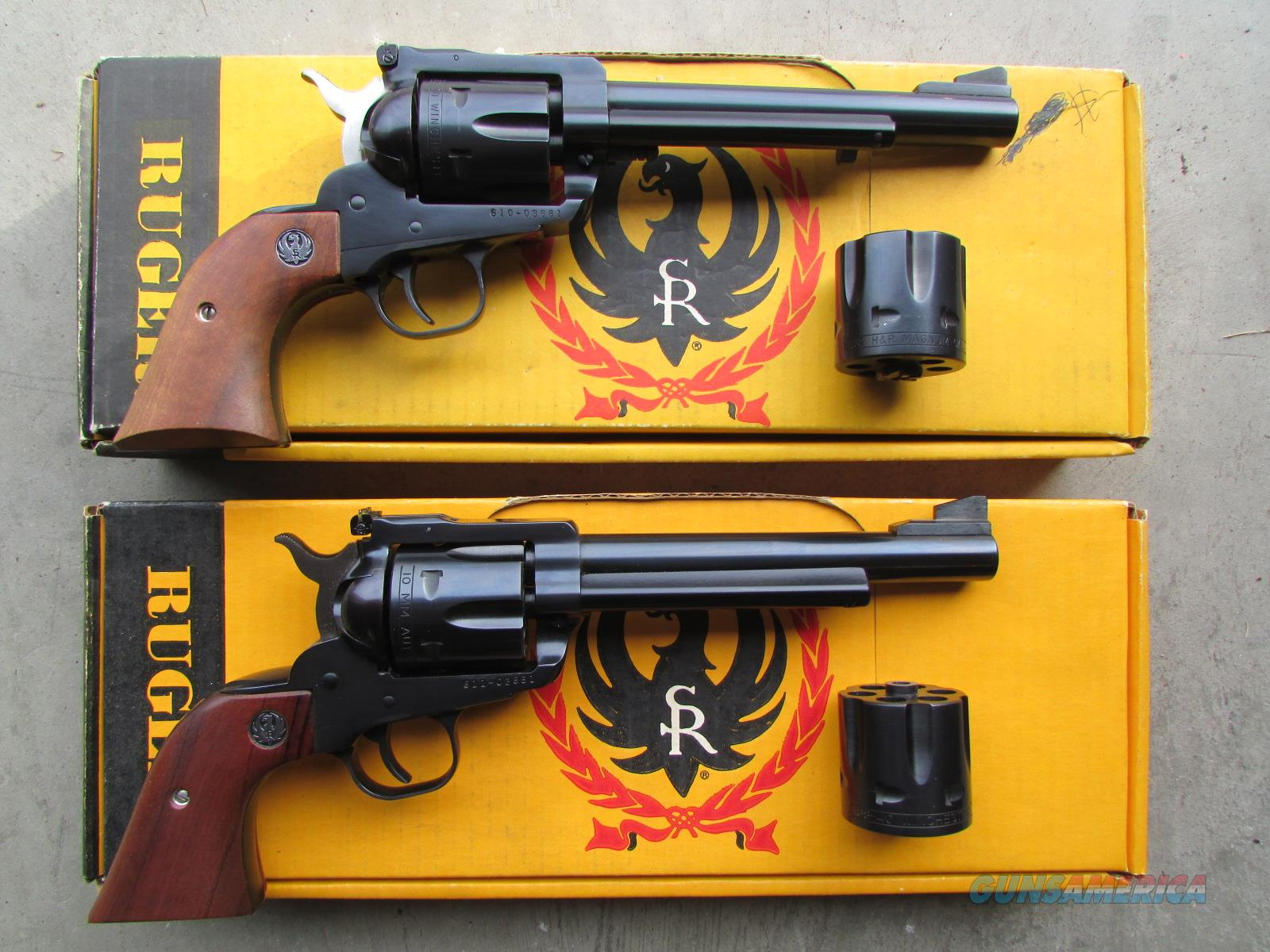 1989-1990 Ruger Blackhawk Convertible Buckeye Matched Set .32-20, .32 H&R, 38-40, 10mm AUTO  Guns > Pistols > Ruger Single Action Revolvers > Blackhawk Type