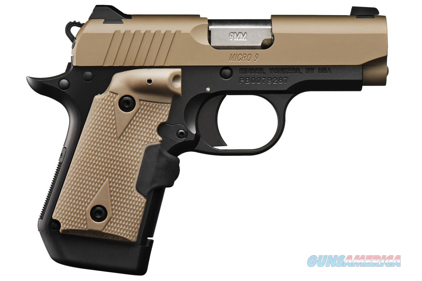 "Kimber Micro 9 Desert Tan (LG) 9mm 3.15"" CT Lasergrips 3300168   Guns > Pistols > Kimber of America Pistols > Micro 9"