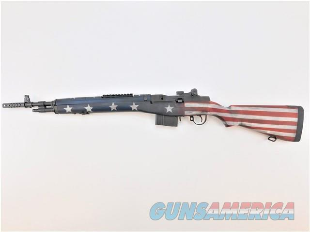 "Springfield M1A Scout .308 Win 18"" 10Rds Red, White & Blue Flag AA9115RWB  Guns > Rifles > Springfield Armory Rifles > M1A/M14"