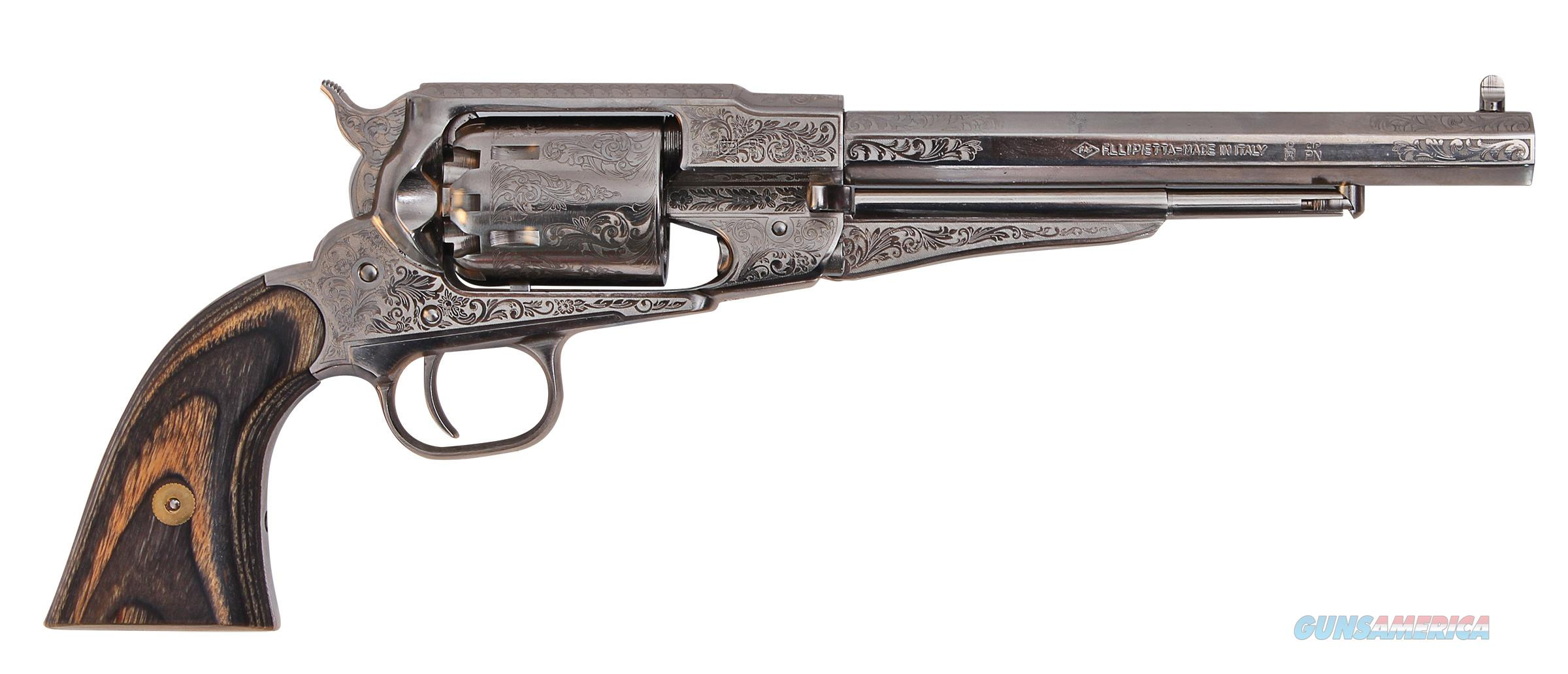 Traditions 1858 Remington Revolver .44 Caliber Nickel/Black Laminate FR185836   Guns > Pistols > Traditions Pistols