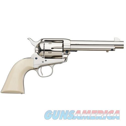 "Uberti 1873 Cattleman Cody New Model Nickel Ivory .45 Colt 5.5""  Guns > Pistols > Uberti Pistols > Ctg."