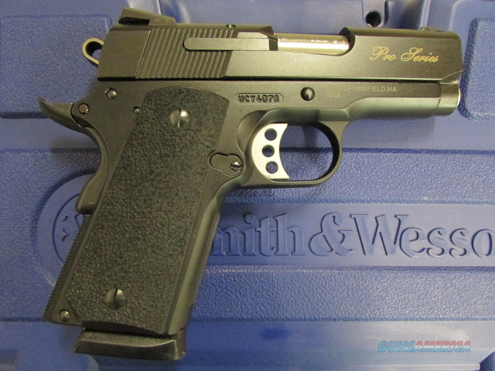 "Smith & Wesson SW1911 Pro Series Sub Compact 3"" Black .45 ACP 178020  Guns > Pistols > Smith & Wesson Pistols - Autos > Alloy Frame"