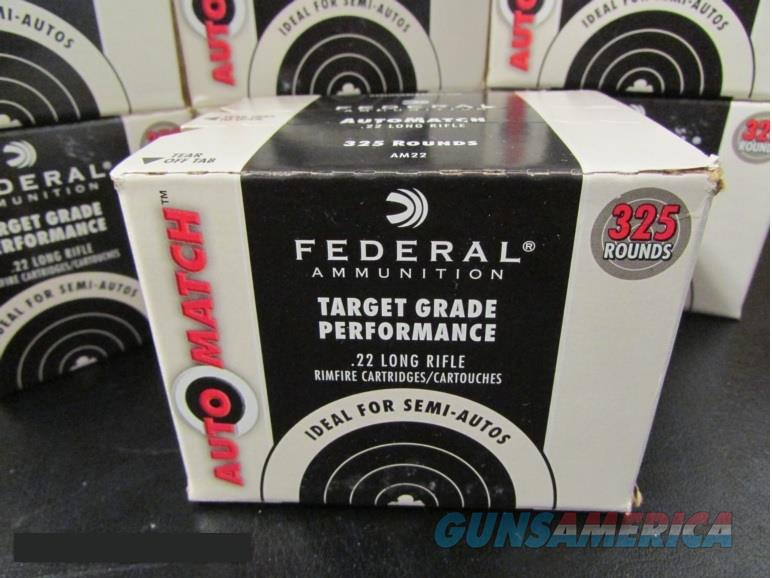 3250 Rounds Federal AutoMatch 40 Gr. .22 LR 22LR  Non-Guns > Ammunition