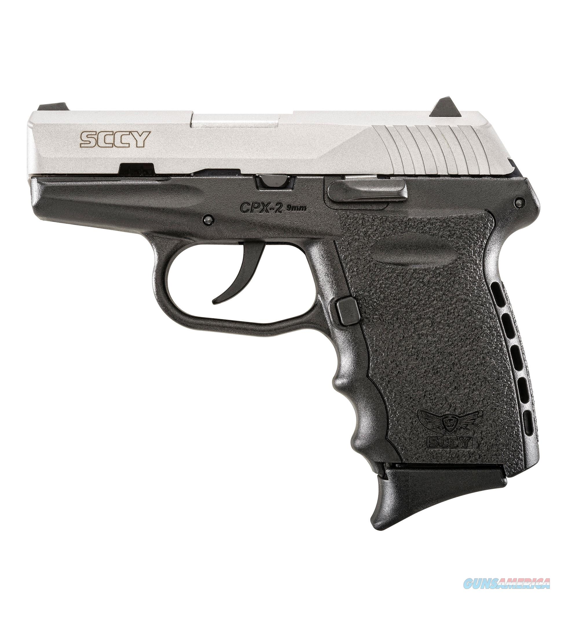 """SCCY CPX-2 9mm 3.1"""" Black/Satin Stainless CPX-2 TT  Guns > Pistols > SCCY Pistols > CPX2"""