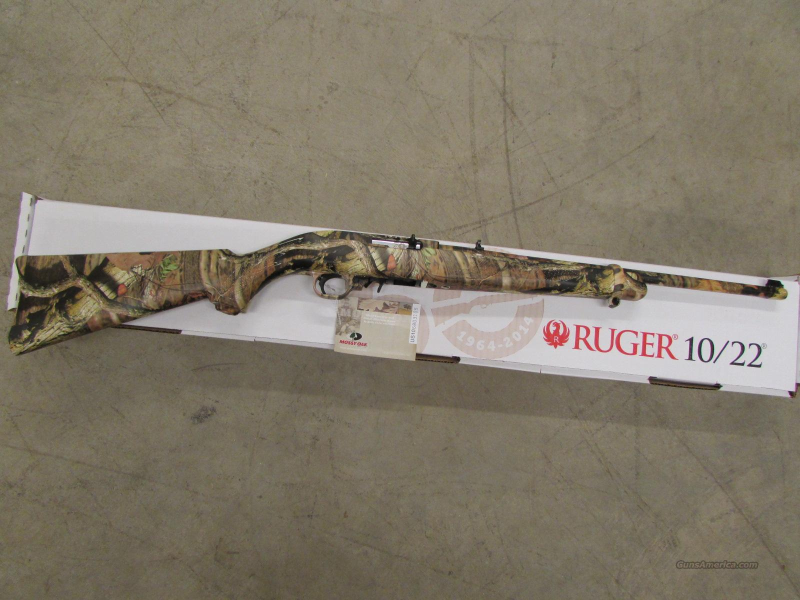 Ruger 10/22 Exclusive Full Mossy Oak Camo Semi-Auto .22 LR  Guns > Rifles > Ruger Rifles > 10-22