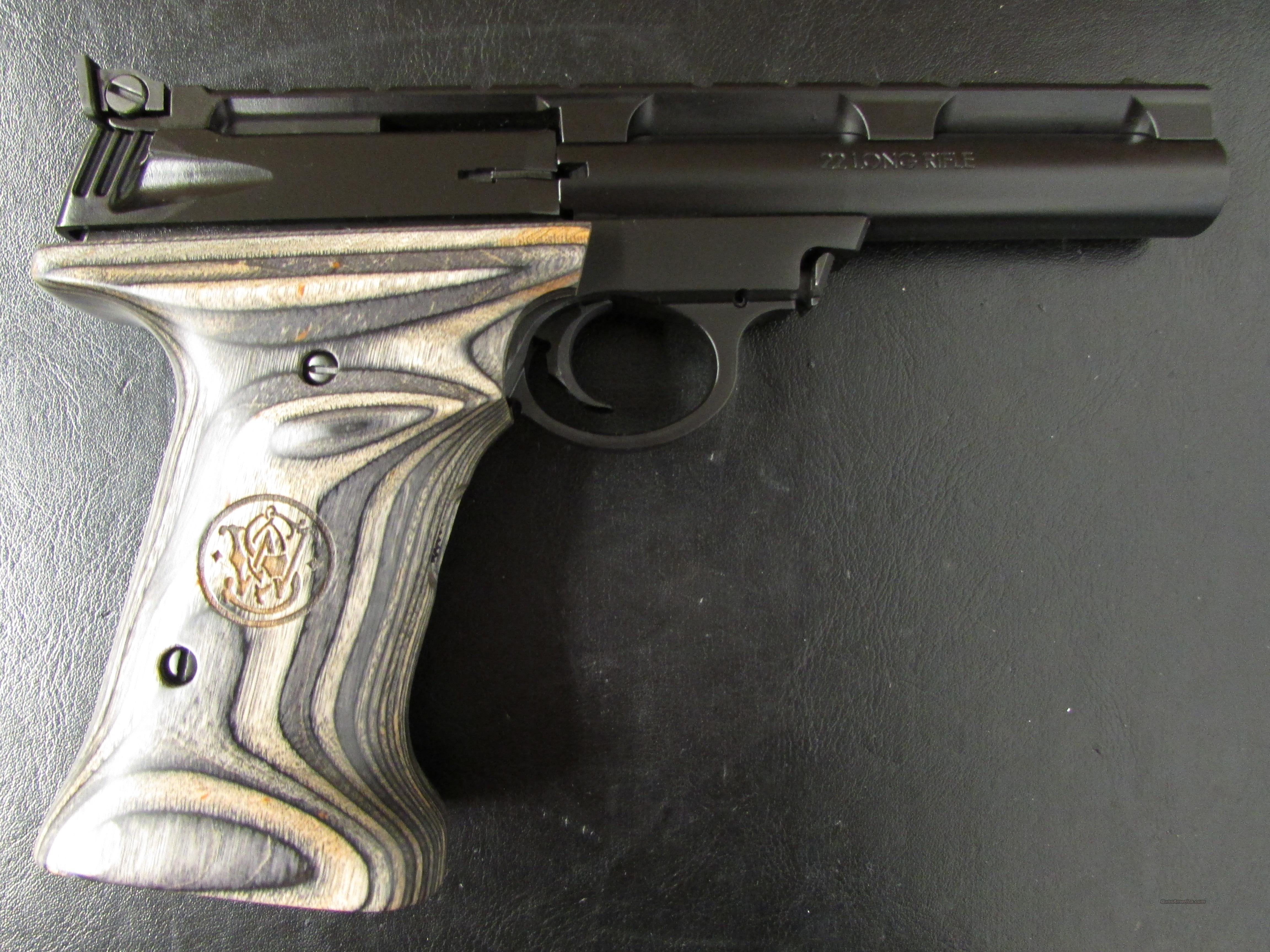 Smith & Wesson 22A with Laminate Over-Sized Grips .22 LR  Guns > Pistols > Smith & Wesson Pistols - Autos > .22 Autos