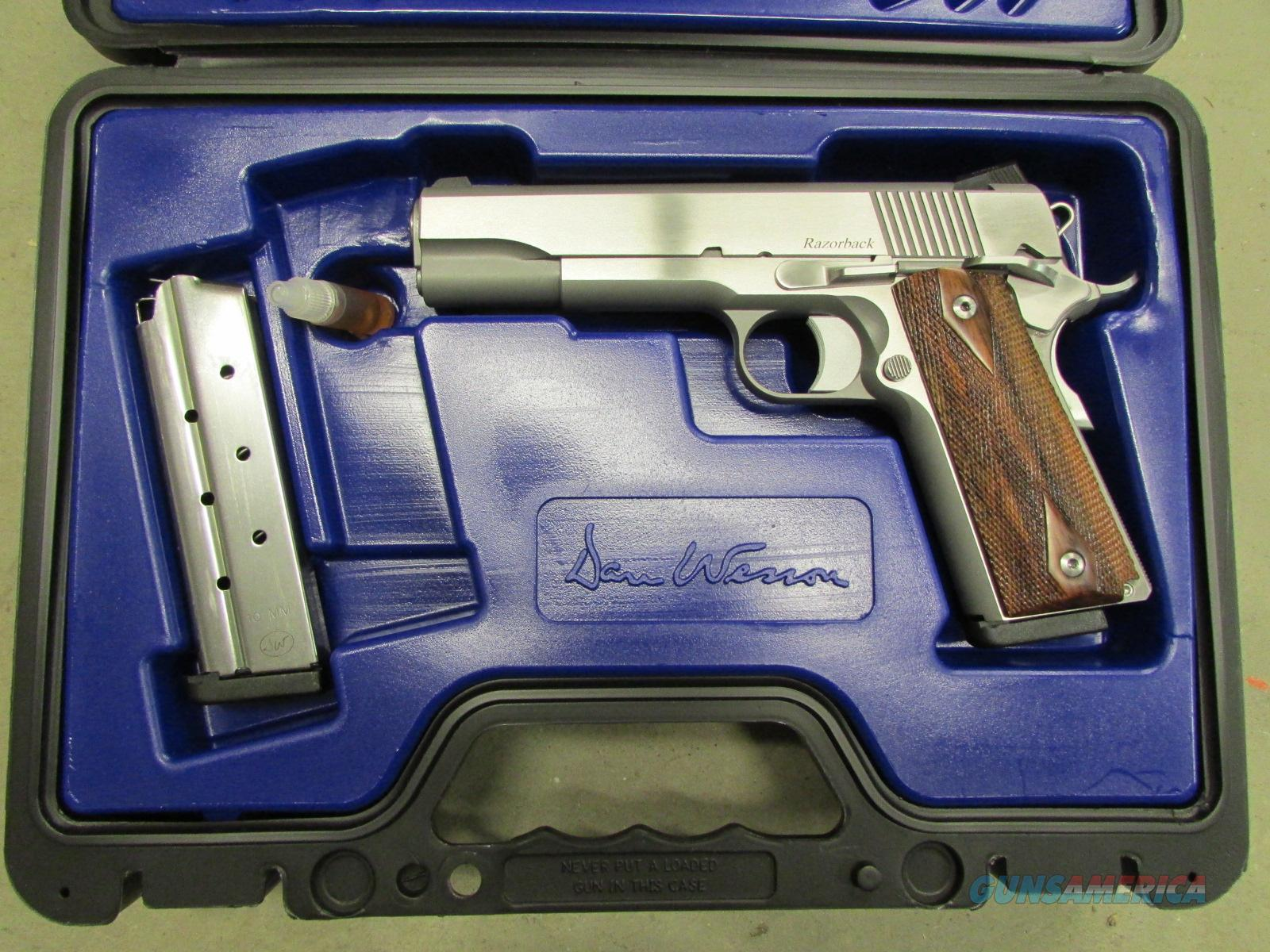 CZ-USA Dan Wesson Razorback Stainless 1911 Wood Grips 10mm  Guns > Pistols > Dan Wesson Pistols/Revolvers > 1911 Style