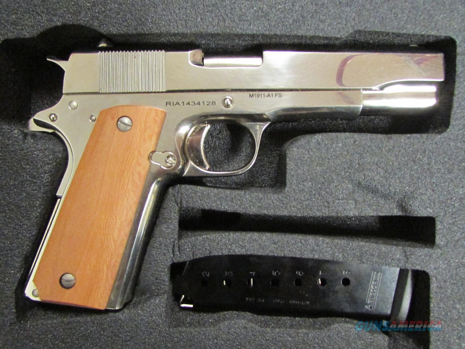 Armscor Rock Island 1911 Polished Nickel GI .45 ACP  Guns > Pistols > Armscor Pistols