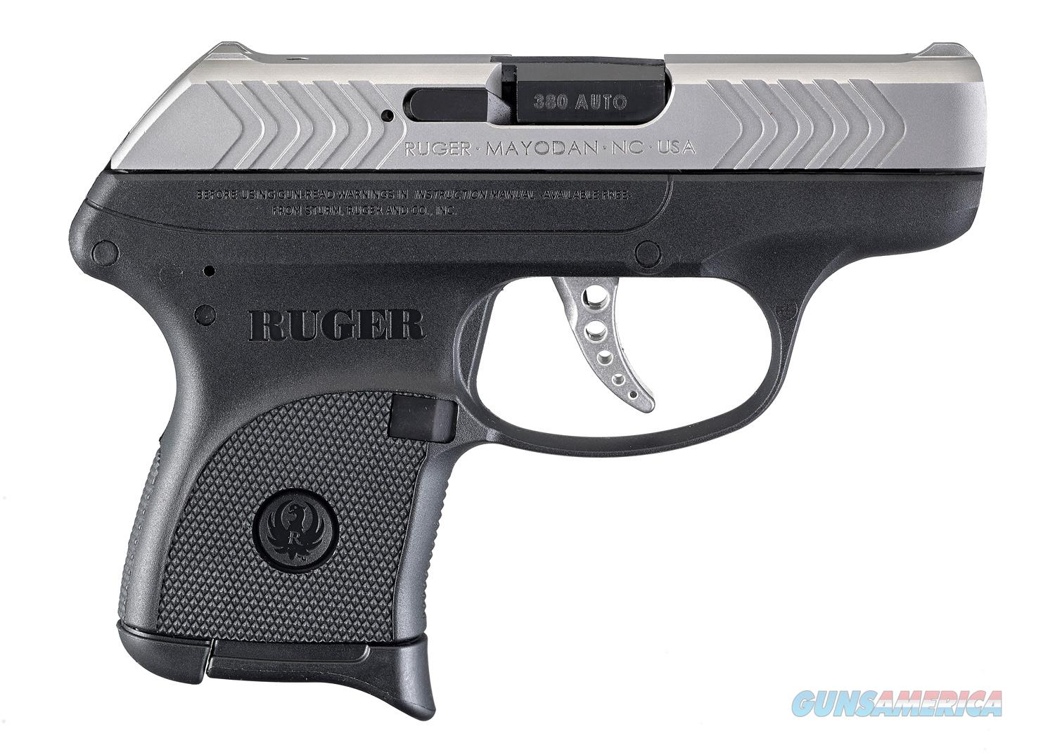 """Ruger LCP .380 Auto 2.75"""" Black/Stainless 6 Rds 3791   Guns > Pistols > Ruger Semi-Auto Pistols > LCP"""