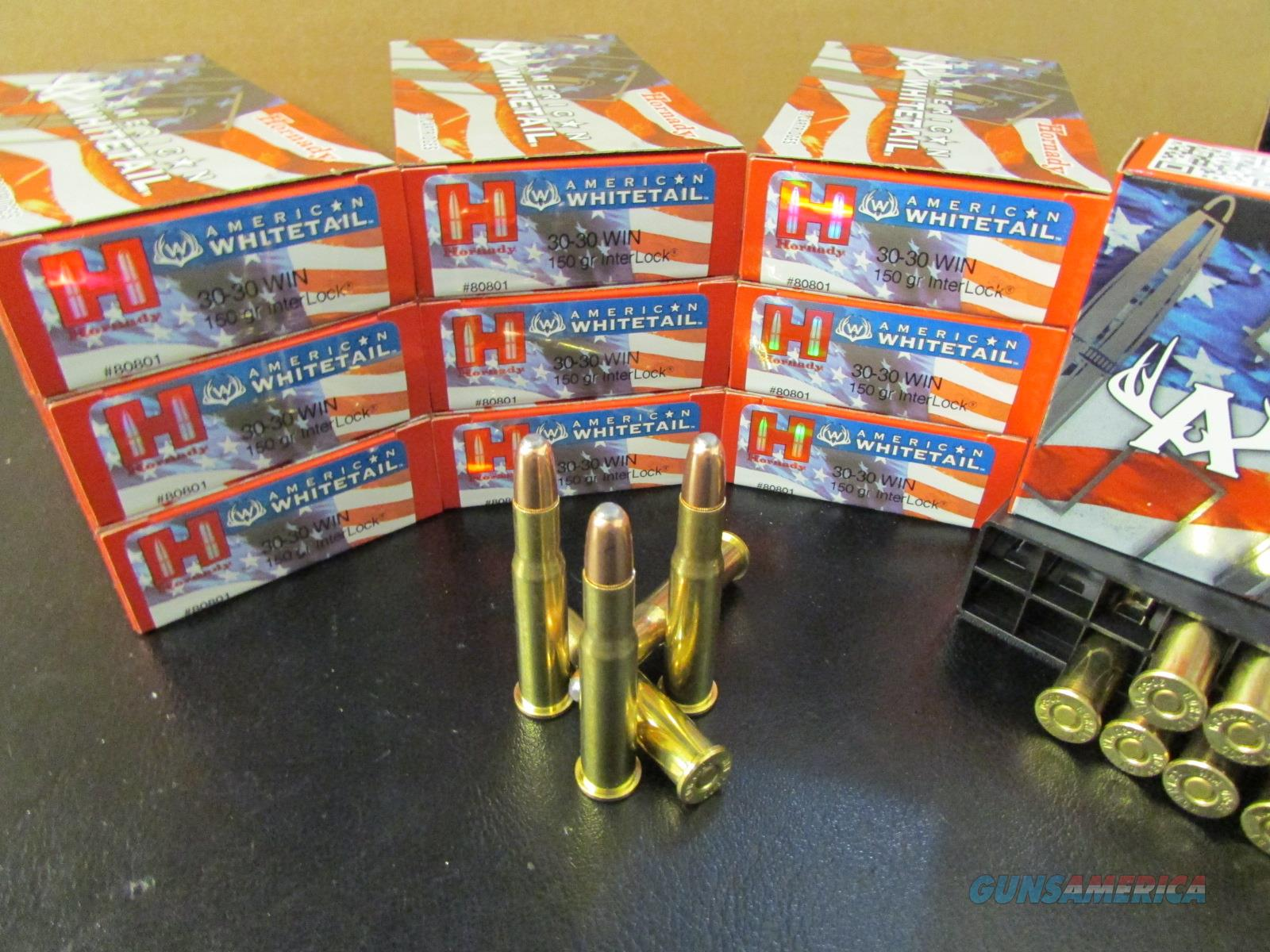 200 ROUNDS HORNADY AMERICAN WHITETAIL .30-30 WIN.   Non-Guns > Ammunition