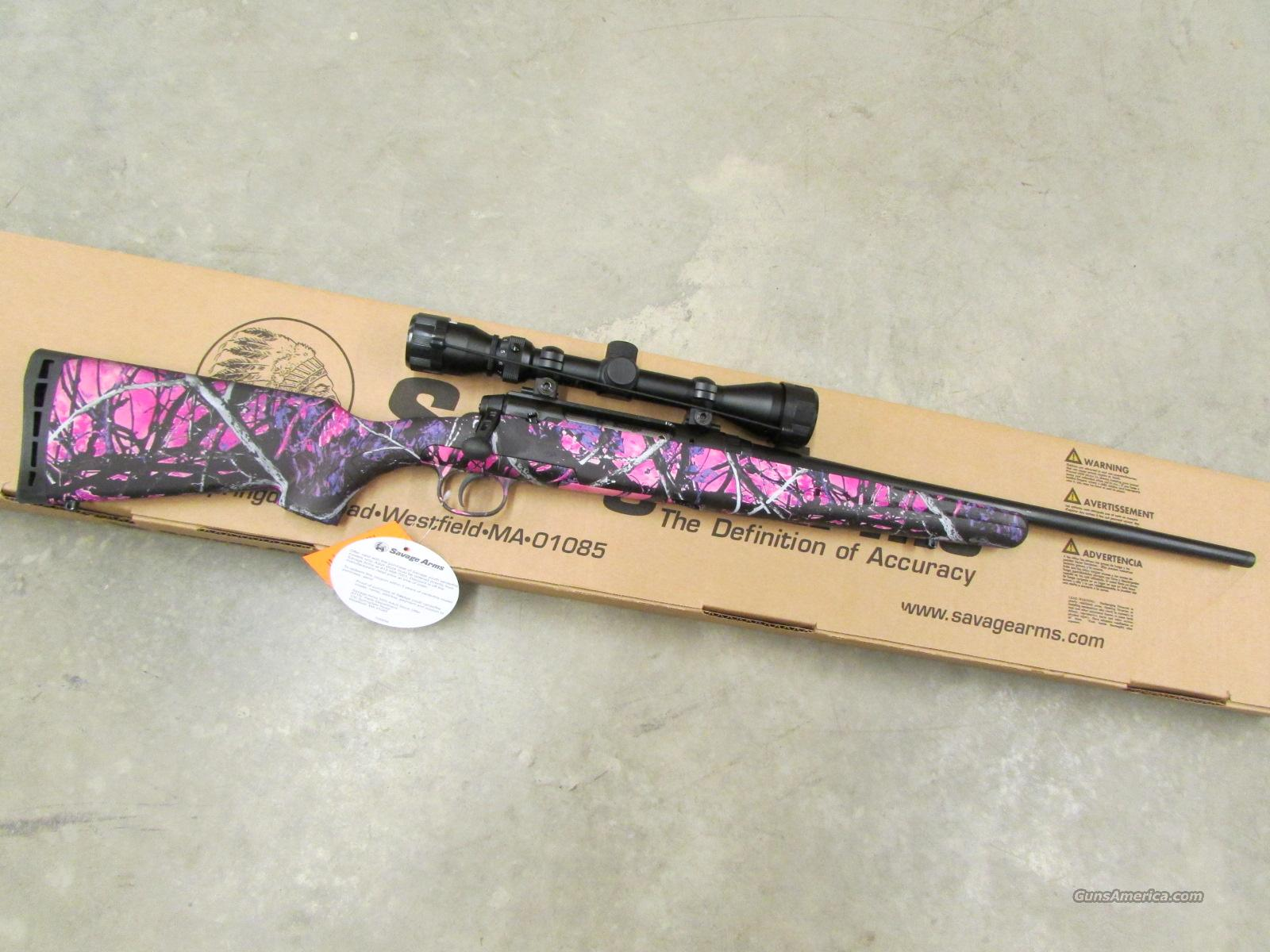 Savage Axis XP Bolt-Action 7mm-08 Rem. Pink Muddy Girl with Scope 19977  Guns > Rifles > Savage Rifles > Standard Bolt Action > Sporting