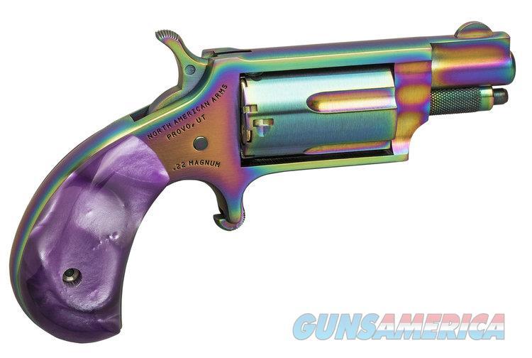 "NAA North American Magenta Magnum .22 WMR Rainbow 1.125"" NAA-22MS-RBW   Guns > Pistols > North American Arms Pistols"