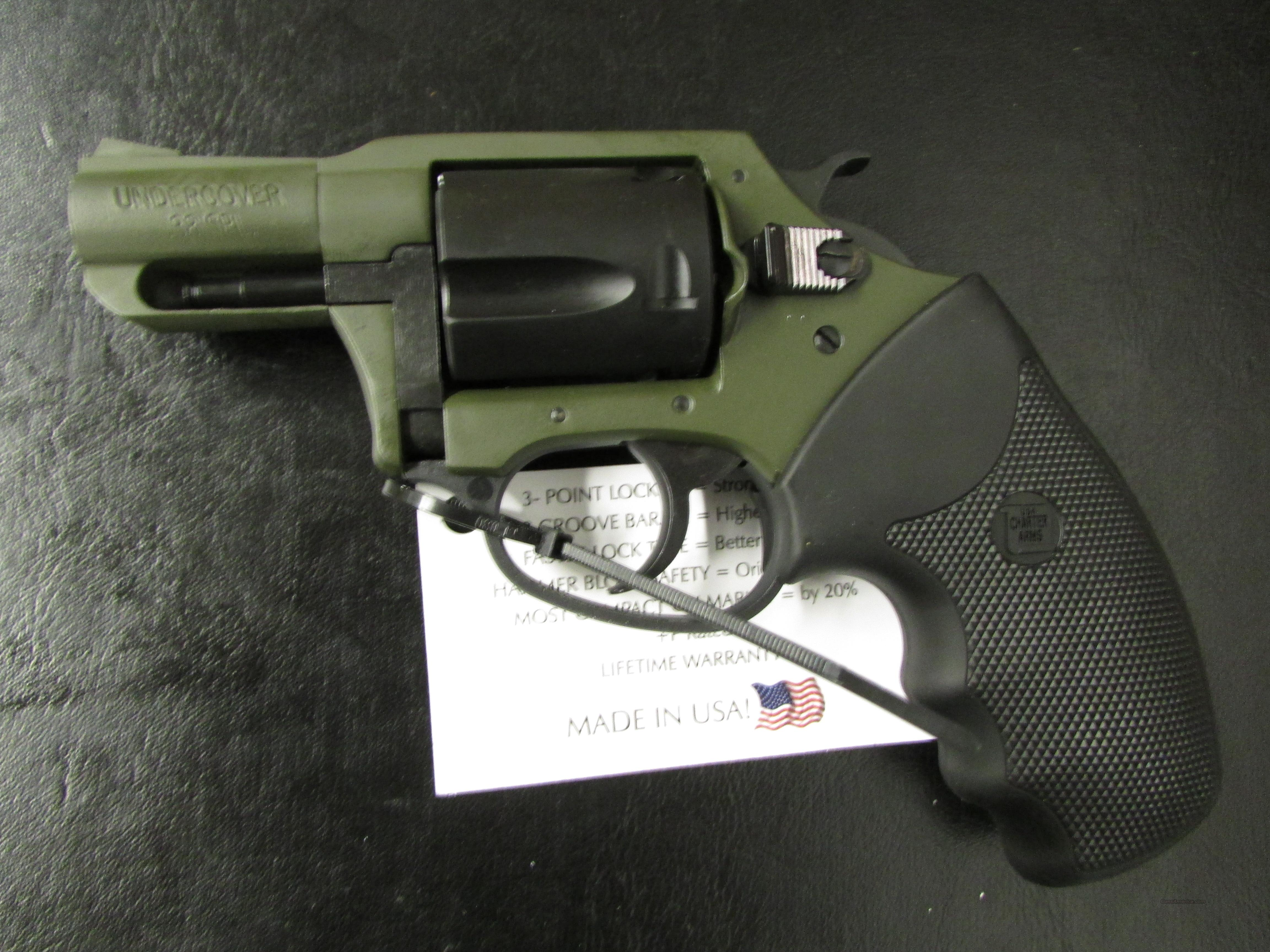 Charter Arms Undercover OD Green & Black .38 Special +P  Guns > Pistols > Charter Arms Revolvers