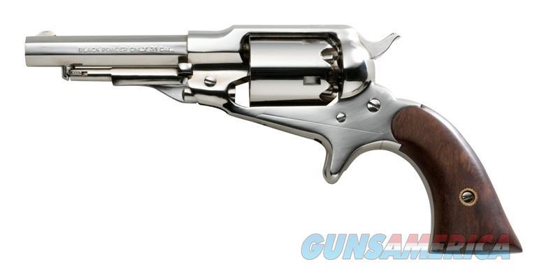 "Taylor's & Co. 1863 Pocket Remington .31 Cal Nickel 3.5"" REV435PIENK   Guns > Pistols > Muzzleloading Modern & Replica Pistols (perc)"