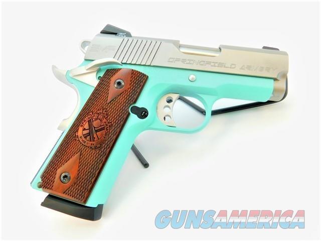 "SPRINGFIELD 1911 EMP 3"" .40 S&W CERAKOTE SILVER BLUE   Guns > Pistols > Springfield Armory Pistols > 1911 Type"