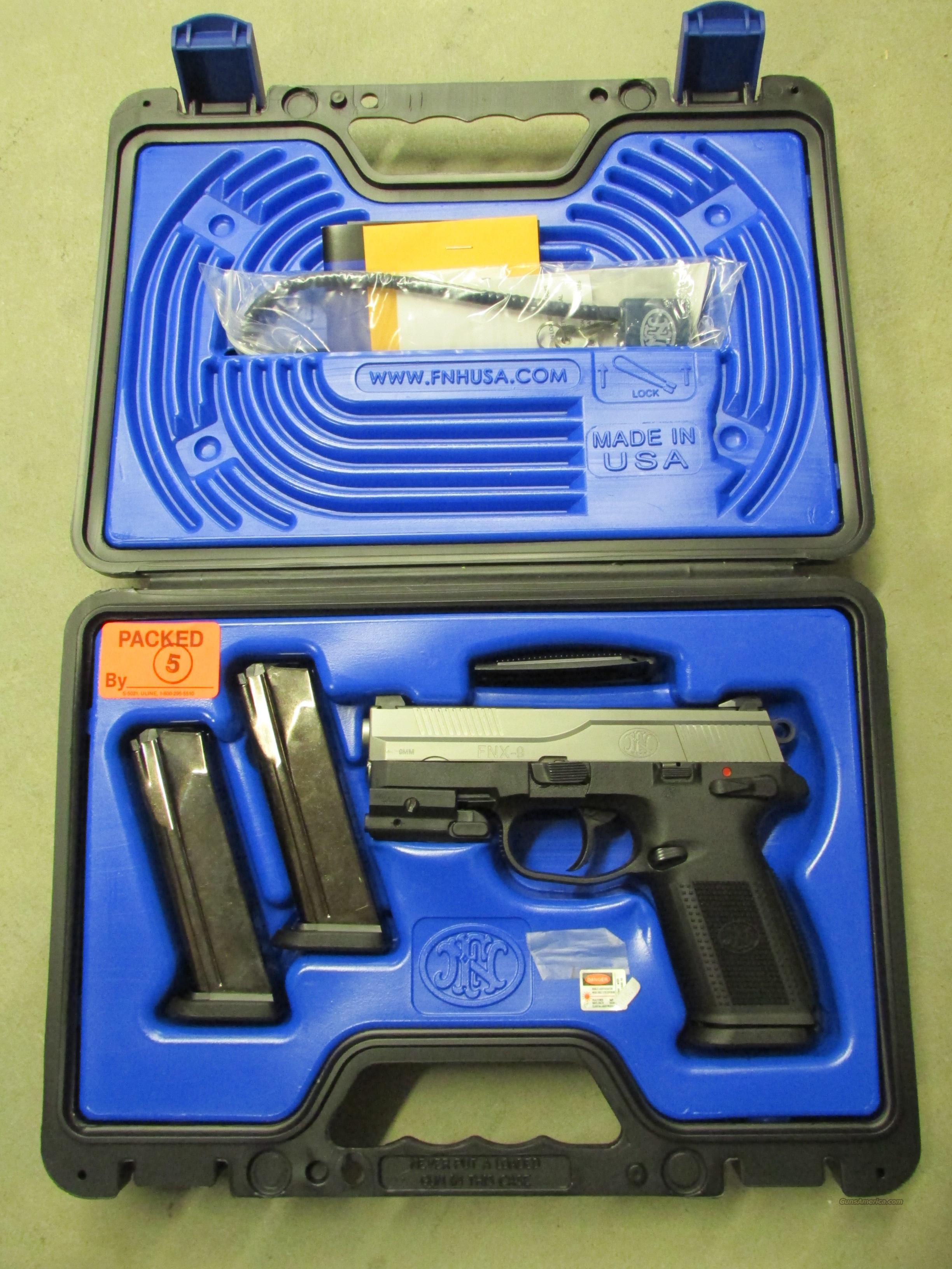 FNH FNX-9 Stainless 9mm with Sig Laser  Guns > Pistols > FNH - Fabrique Nationale (FN) Pistols > FNP