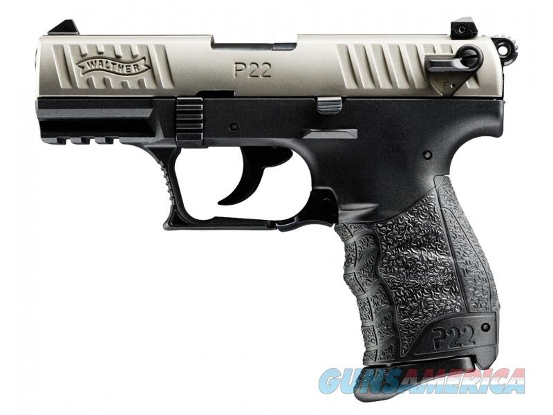 "Walther P22 QD .22 LR 3.42"" Black/Nickel 512.05.25  Guns > Pistols > Walther Pistols > Post WWII > P22"