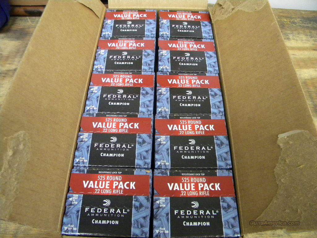 Federal Champion .22 LR 5250 Rounds No. 745  Non-Guns > Ammunition